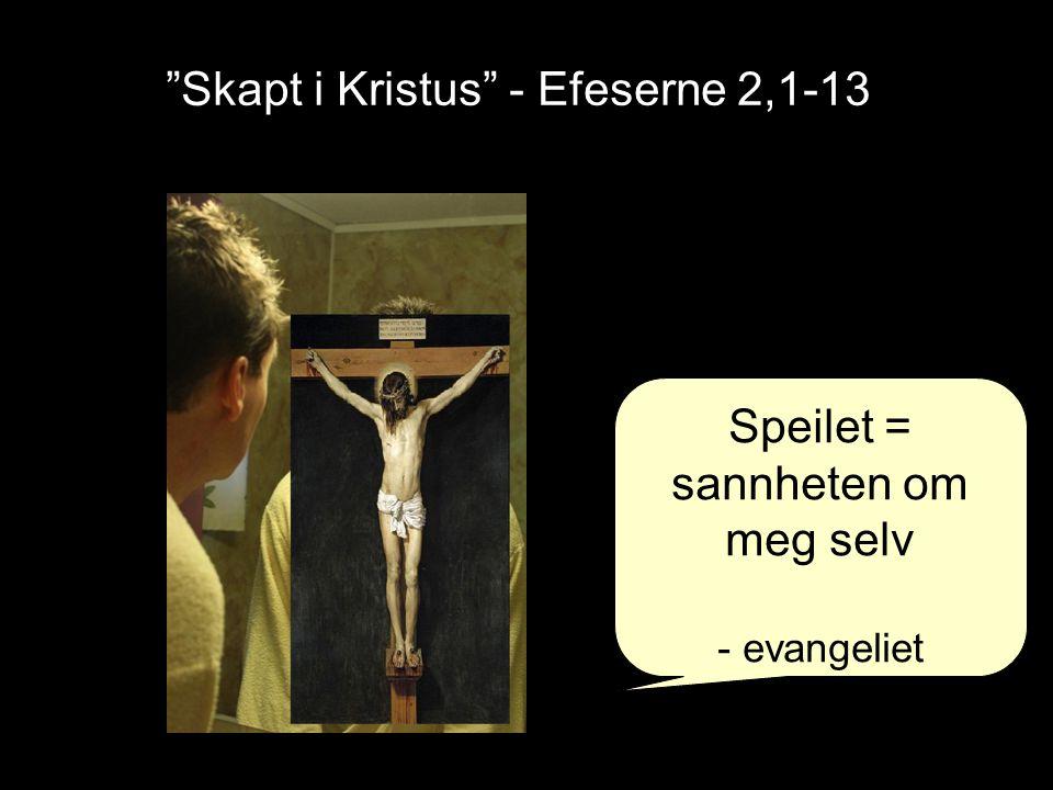 Skapt i Kristus - Efeserne 2,1-13 Kolosserne 3,3: … Deres liv er skjult med Kristus i Gud.