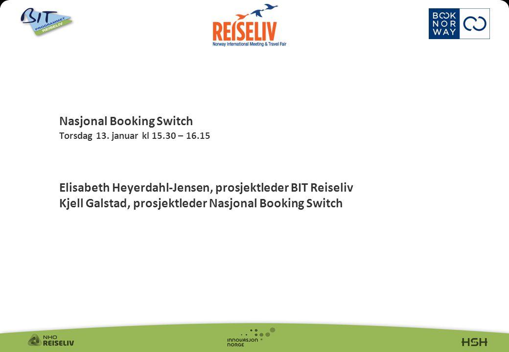2 Disposisjon 1. Bakgrunn og visjon 2. Nasjonal Booking Switch, hva og hvordan