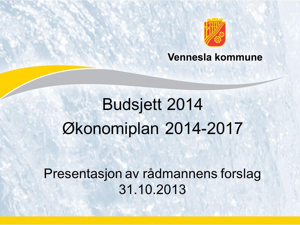 Budsjett 2014 Økonomiplan 2014-2017 Presentasjon av rådmannens forslag 31.10.2013