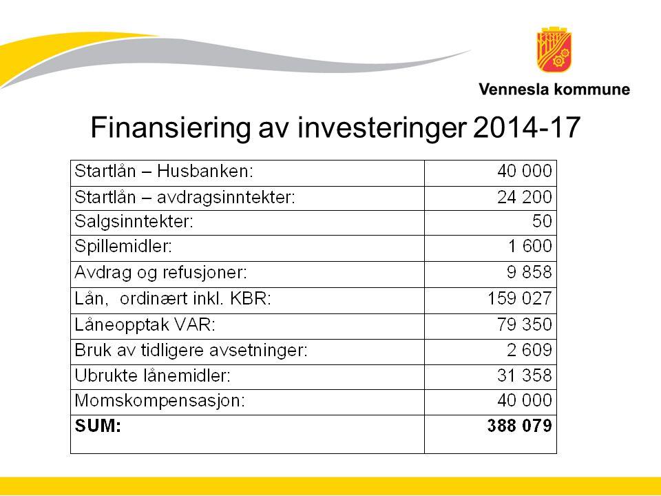 Finansiering av investeringer 2014-17