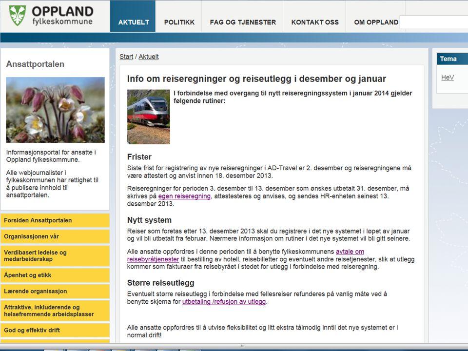 Framdrift April 2014  Rapportering (1.tertial) 2.