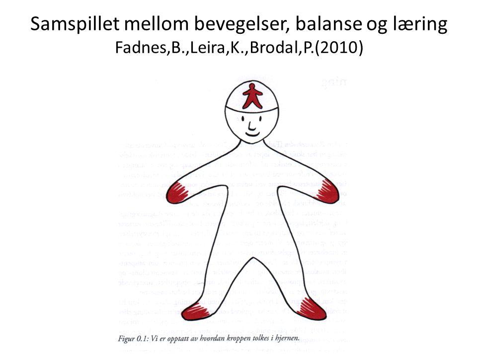 Samspillet mellom bevegelser, balanse og læring Fadnes,B.,Leira,K.,Brodal,P.(2010)