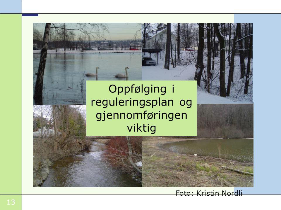 13 Oppfølging i reguleringsplan og gjennomføringen viktig Foto: Kristin Nordli