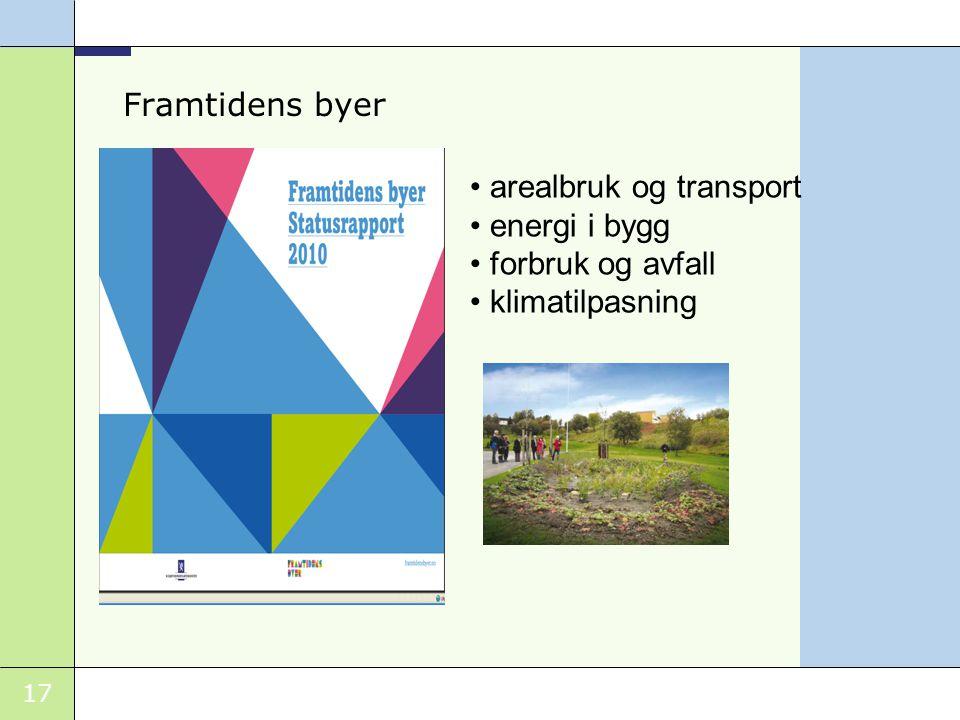 17 Framtidens byer arealbruk og transport energi i bygg forbruk og avfall klimatilpasning