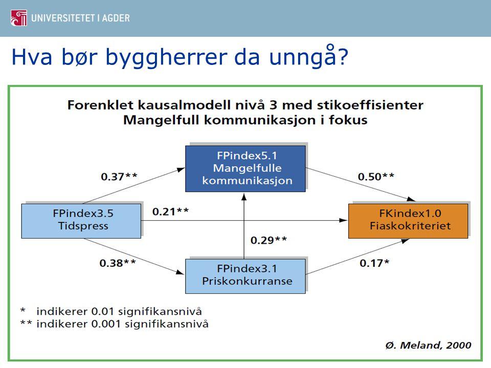 Hva bør byggherrer da unngå? Dr. ing Øystein Meland4