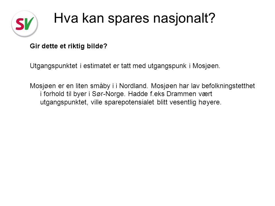 Gir dette et riktig bilde? Utgangspunktet i estimatet er tatt med utgangspunk i Mosjøen. Mosjøen er en liten småby i i Nordland. Mosjøen har lav befol