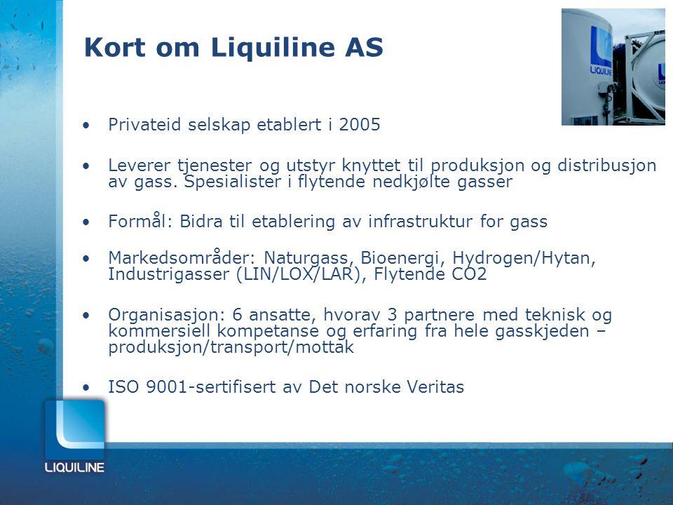 Kort om Liquiline AS Privateid selskap etablert i 2005 Leverer tjenester og utstyr knyttet til produksjon og distribusjon av gass. Spesialister i flyt
