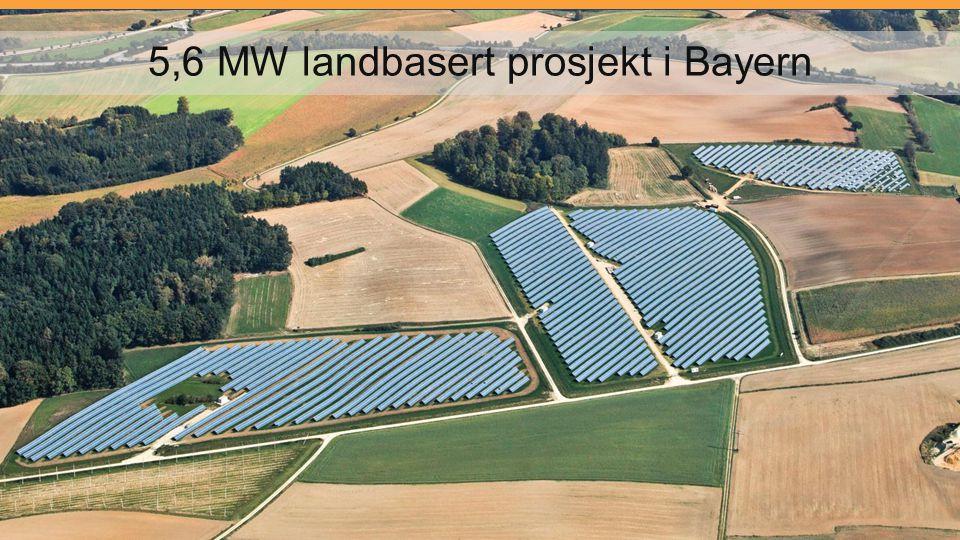 5,6 MW landbasert prosjekt i Bayern