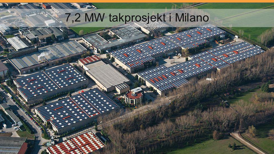 7,2 MW takprosjekt i Milano