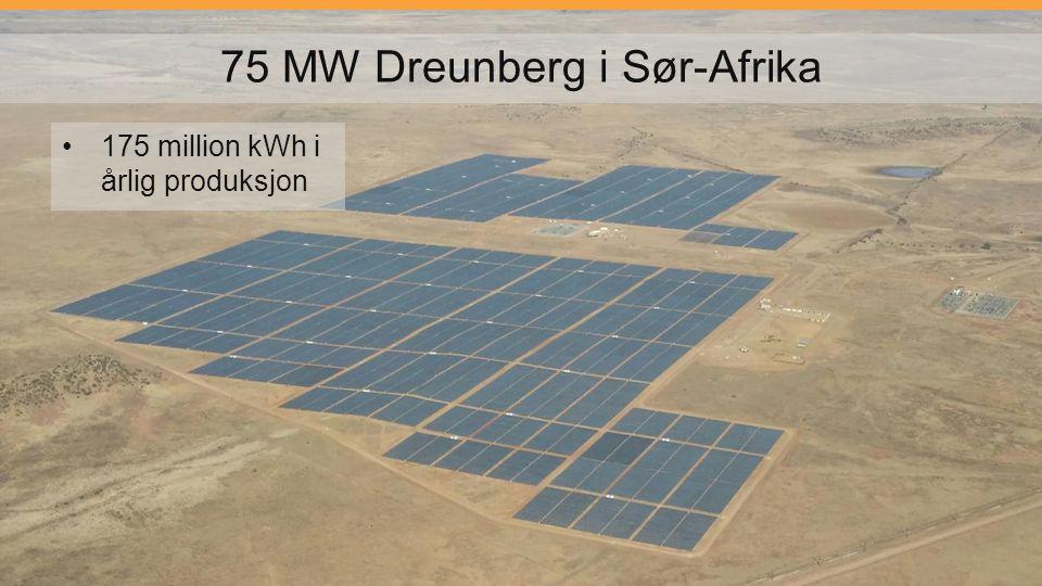 75 MW Dreunberg i Sør-Afrika 175 million kWh i årlig produksjon