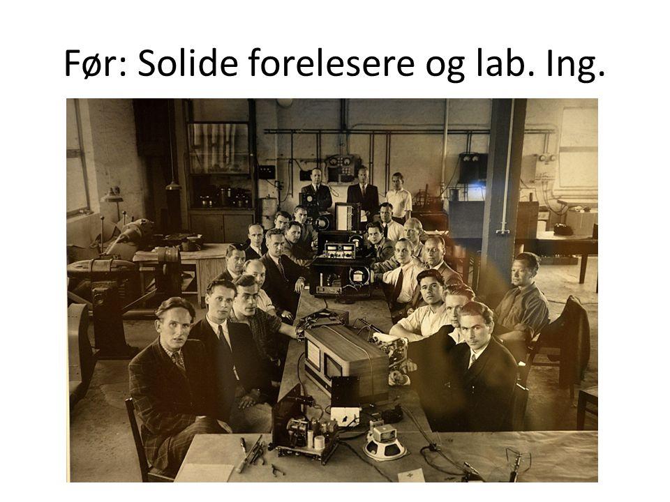 Før: Solide forelesere og lab. Ing.