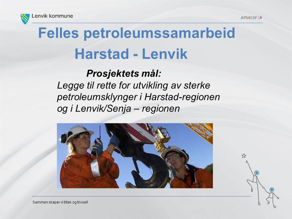 Sammen skaper vi tiltak og trivsel! Felles petroleumssamarbeid Harstad - Lenvik Prosjektets mål: Legge til rette for utvikling av sterke petroleumskly