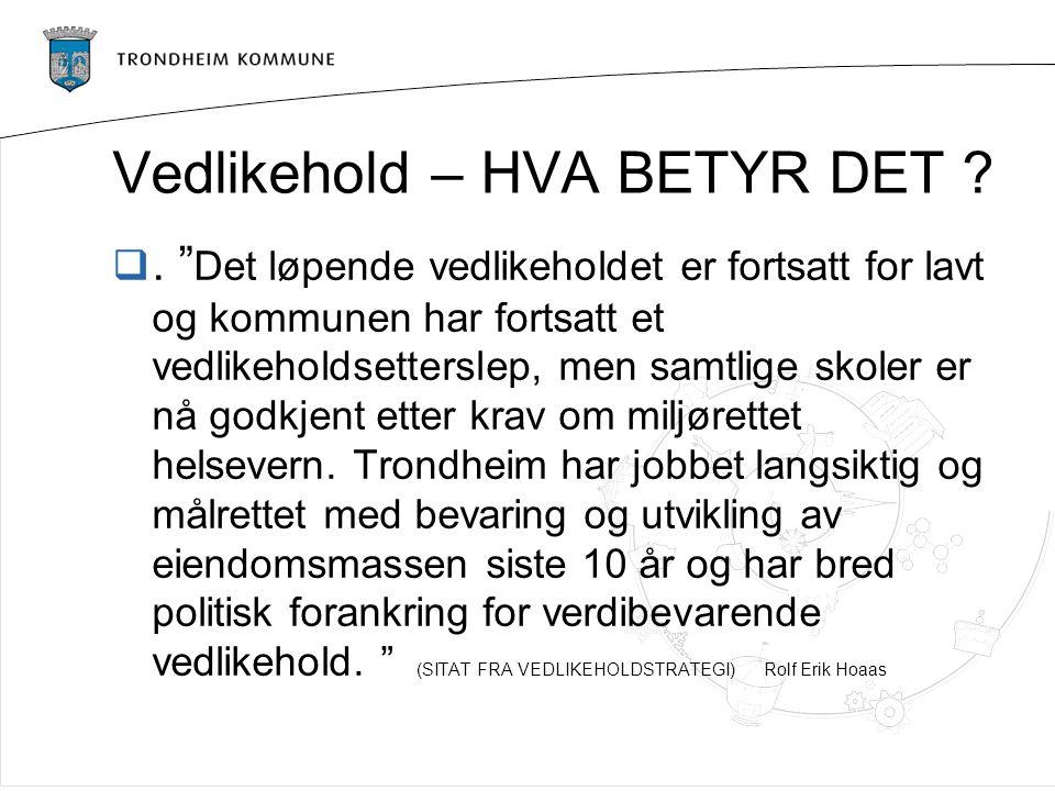 Drift og vedlikehold i 2013 – Rolf Erik Hoaas  NS 3454 - hva er driftskostnad og hva er vedlikeholdskostnad .