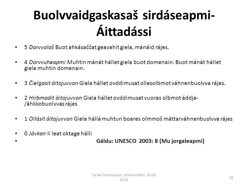 Buolvvaidgaskasaš sirdáseapmi- Áittadássi 5 Dorvvolaš Buot ahkásaččat geavahit giela, mánáid rájes.