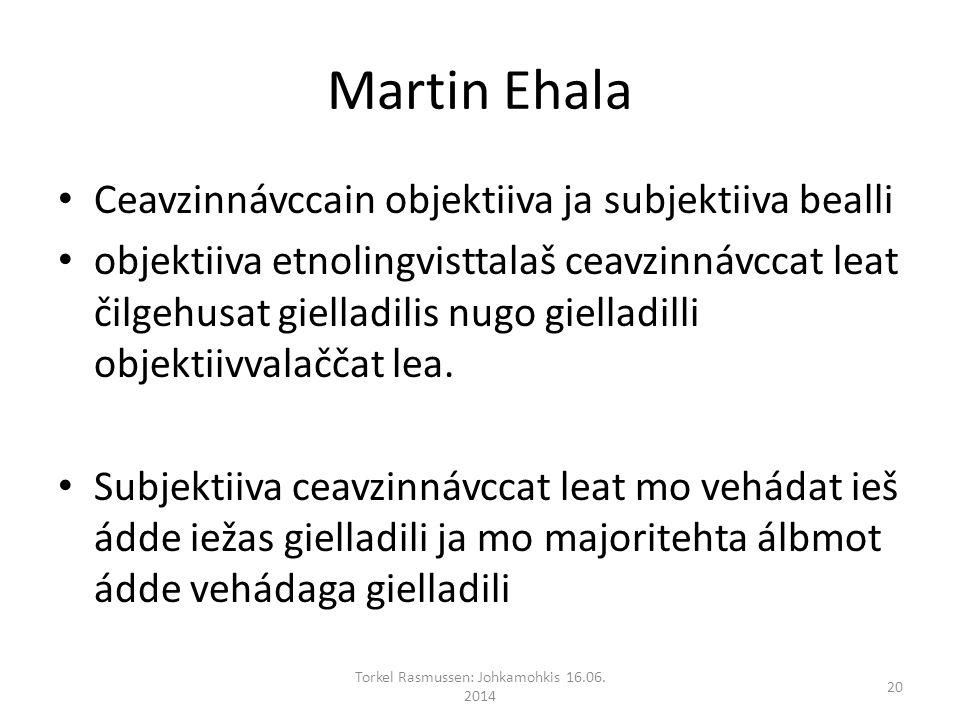 Martin Ehala Ceavzinnávccain objektiiva ja subjektiiva bealli objektiiva etnolingvisttalaš ceavzinnávccat leat čilgehusat gielladilis nugo gielladilli objektiivvalaččat lea.