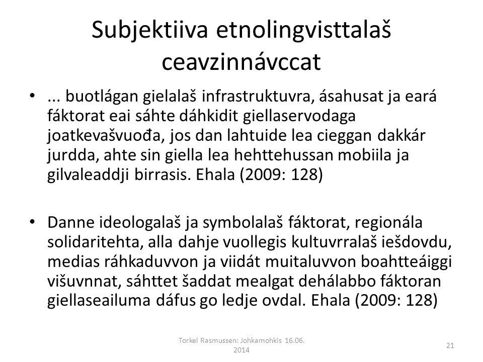 Subjektiiva etnolingvisttalaš ceavzinnávccat...