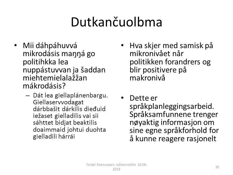 Dutkančuolbma Mii dáhpáhuvvá mikrodásis maŋŋá go politihkka lea nuppástuvvan ja šaddan miehtemielalažžan mákrodásis.