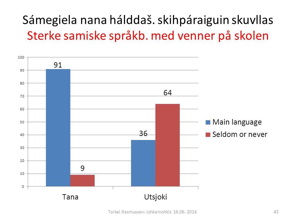 Sámegiela nana hálddaš. skihpáraiguin skuvllas Sterke samiske språkb.