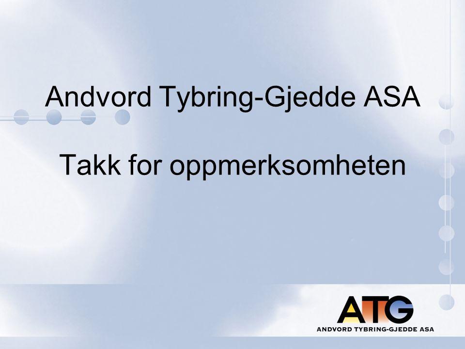 Andvord Tybring-Gjedde ASA Takk for oppmerksomheten
