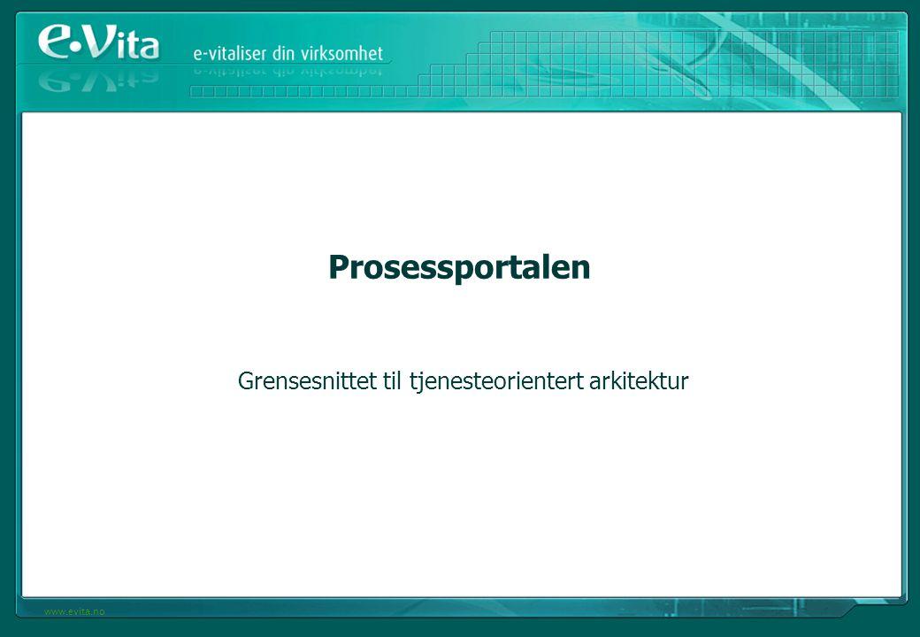 www.evita.no Prosessportalen Grensesnittet til tjenesteorientert arkitektur