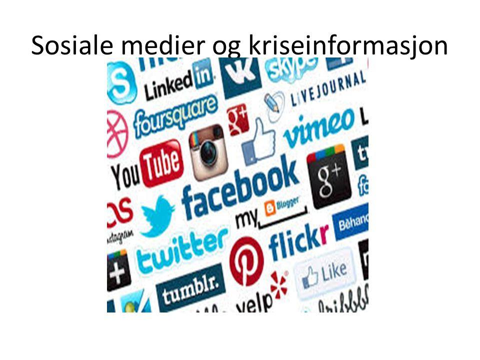 Sosiale medier og kriseinformasjon