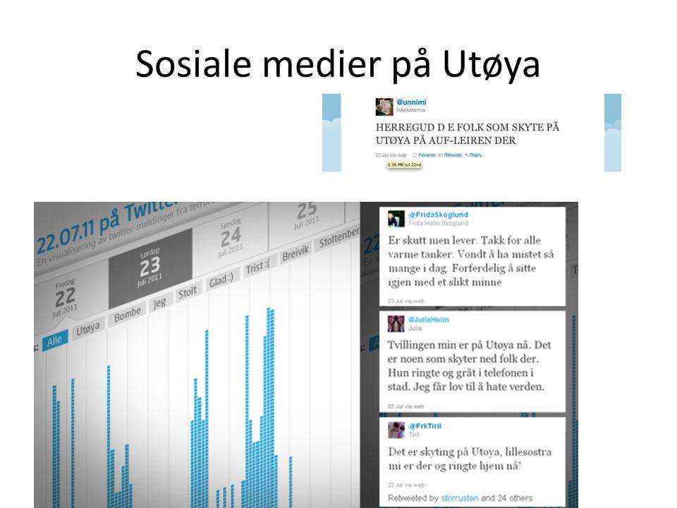 Sosiale medier på Utøya