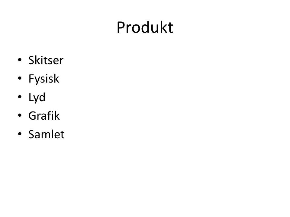 Produkt Skitser Fysisk Lyd Grafik Samlet
