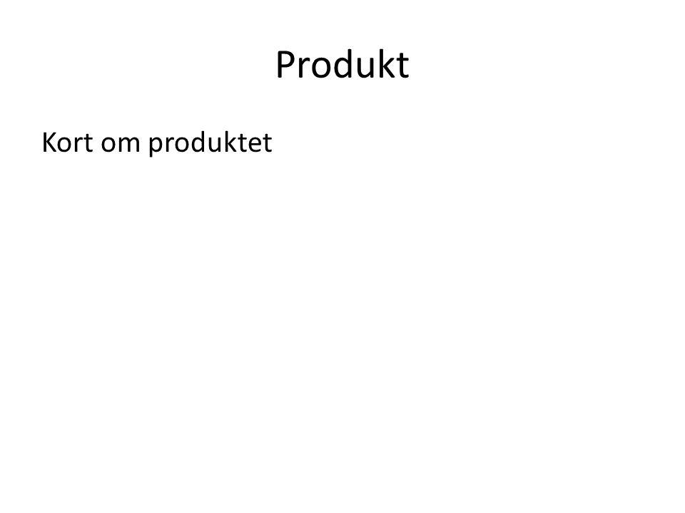 Produkt Kort om produktet
