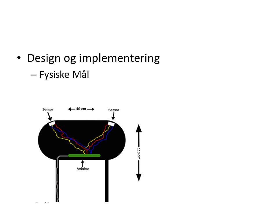 Design og implementering – Fysiske Mål