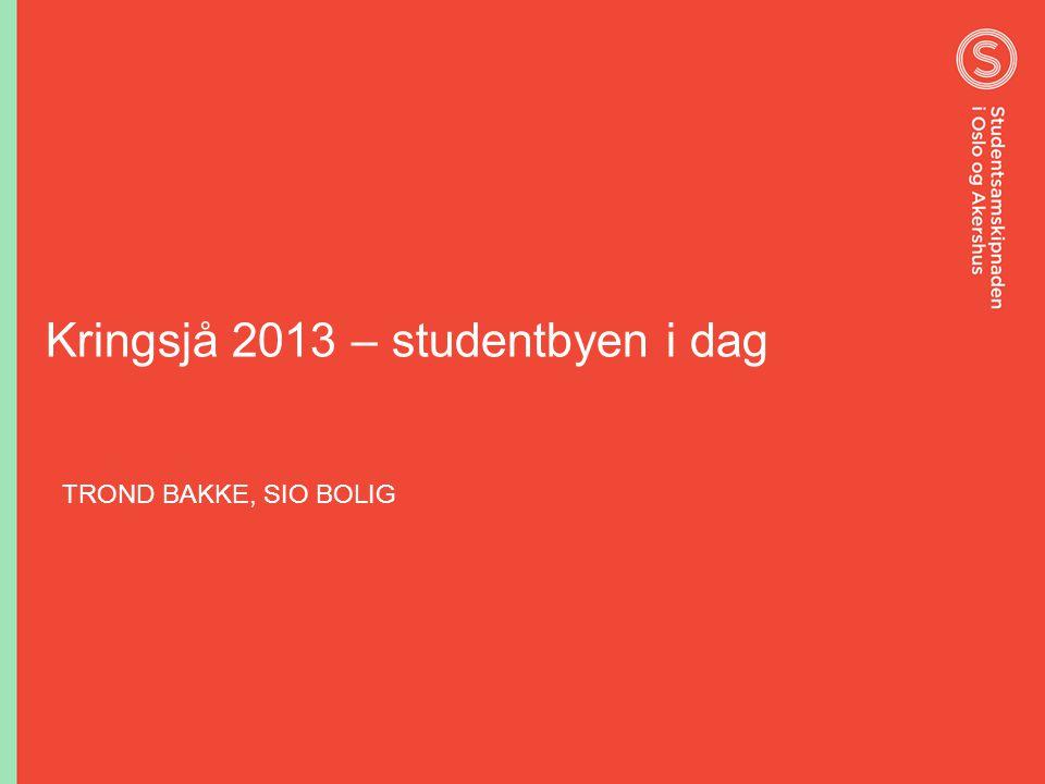 Kringsjå 2013 – studentbyen i dag TROND BAKKE, SIO BOLIG