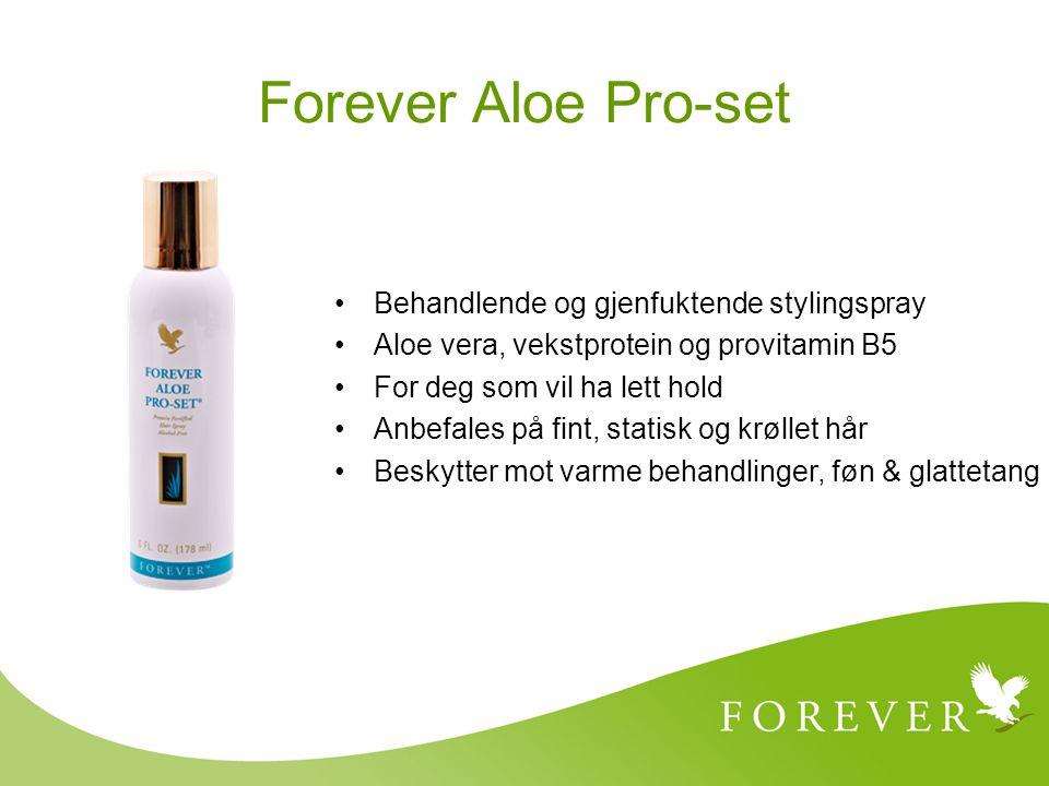 Behandlende og gjenfuktende stylingspray Aloe vera, vekstprotein og provitamin B5 For deg som vil ha lett hold Anbefales på fint, statisk og krøllet h