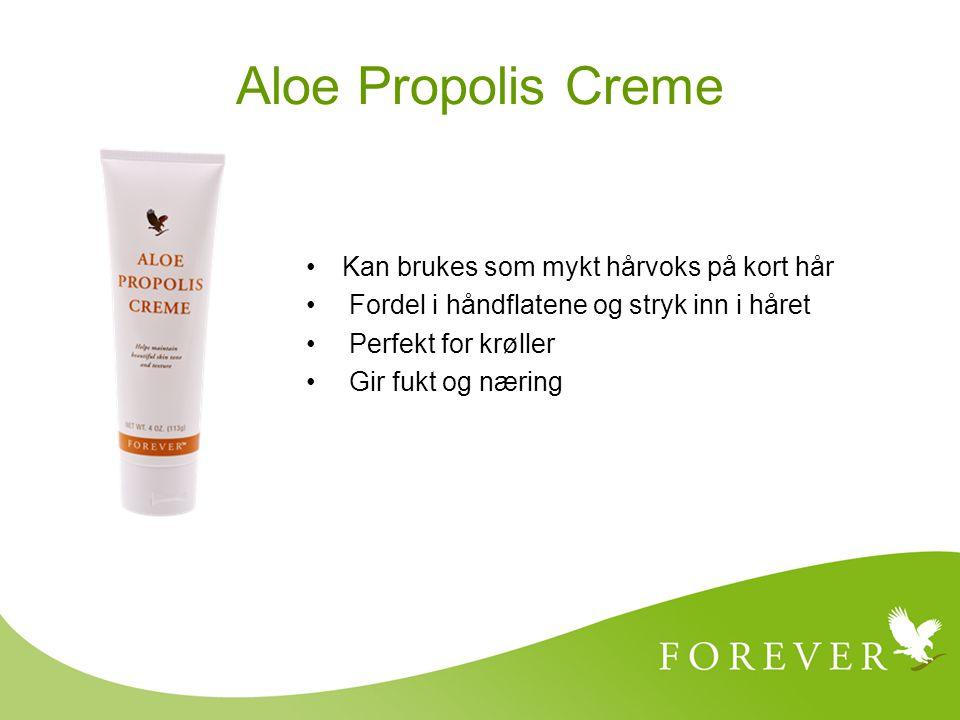 Aloe Propolis Creme Kan brukes som mykt hårvoks på kort hår Fordel i håndflatene og stryk inn i håret Perfekt for krøller Gir fukt og næring