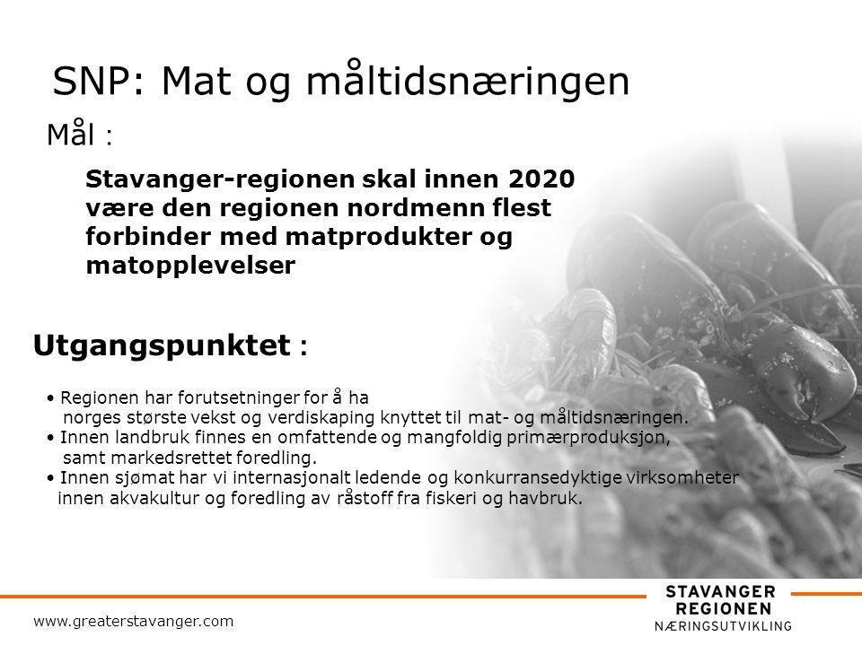 www.greaterstavanger.com Mål-formulering i SNP: 1.