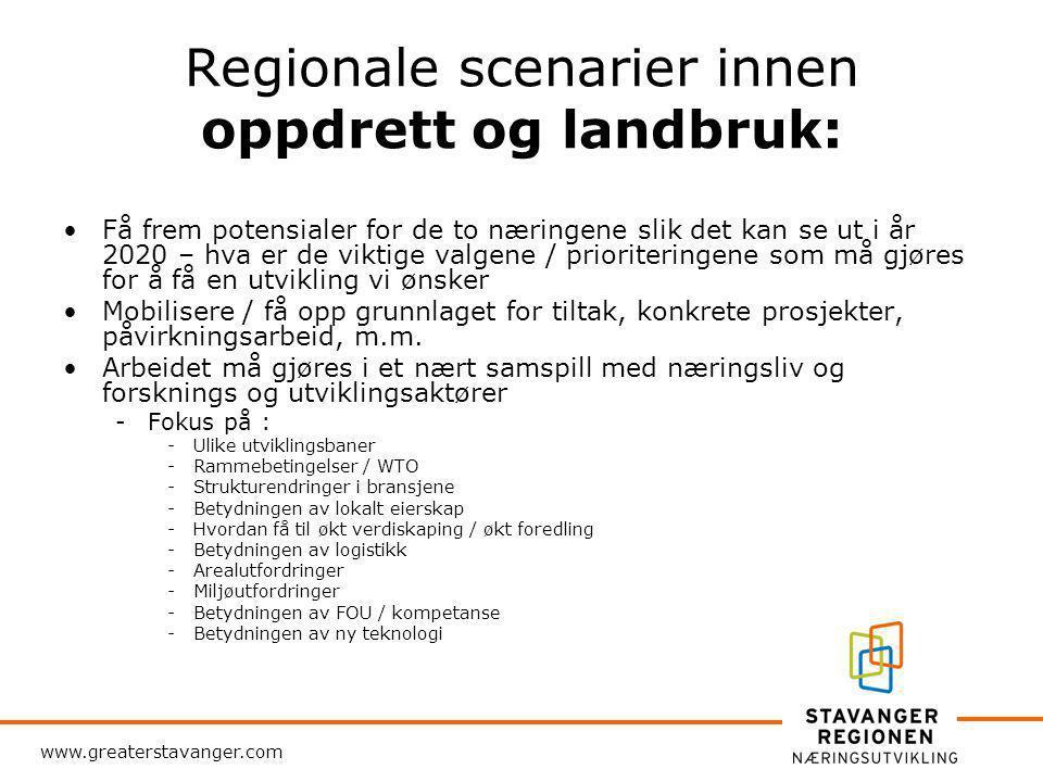 www.greaterstavanger.com Blå og grønn næringsvei til framtiden NCE Mat Mat- og måltidsnæringens kunnskapssenter