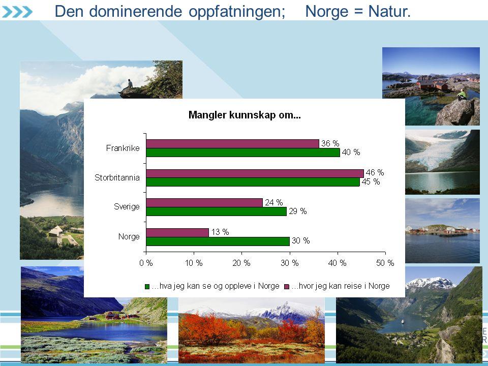 Den dominerende oppfatningen; Norge = Natur.