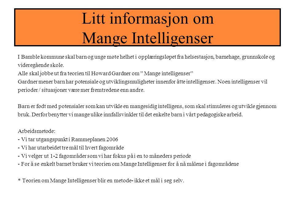 EVALUERING; Evaluering av mars og april 2006 for avdeling Rødhette.