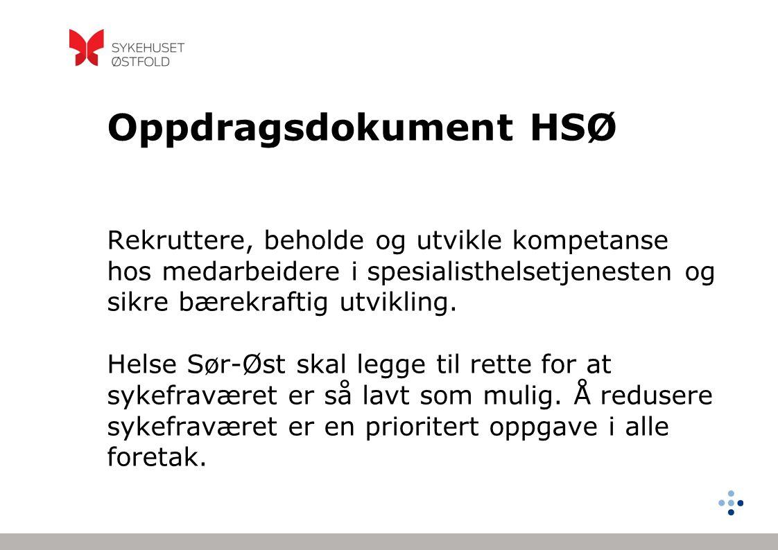 Oppdragsdokument HSØ Rekruttere, beholde og utvikle kompetanse hos medarbeidere i spesialisthelsetjenesten og sikre bærekraftig utvikling.