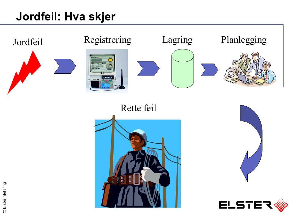 © Elster Metering Jordfeil: Hva skjer Jordfeil RegistreringLagringPlanlegging Rette feil
