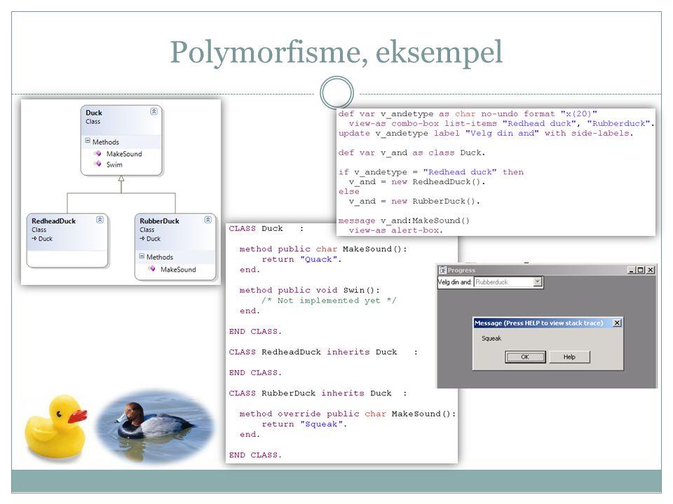 Polymorfisme, eksempel