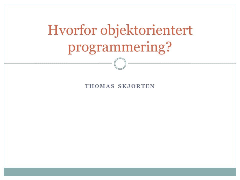 Objektorientert programmering Kort historikk Simula påbegynnes Simula 67 presenteres.