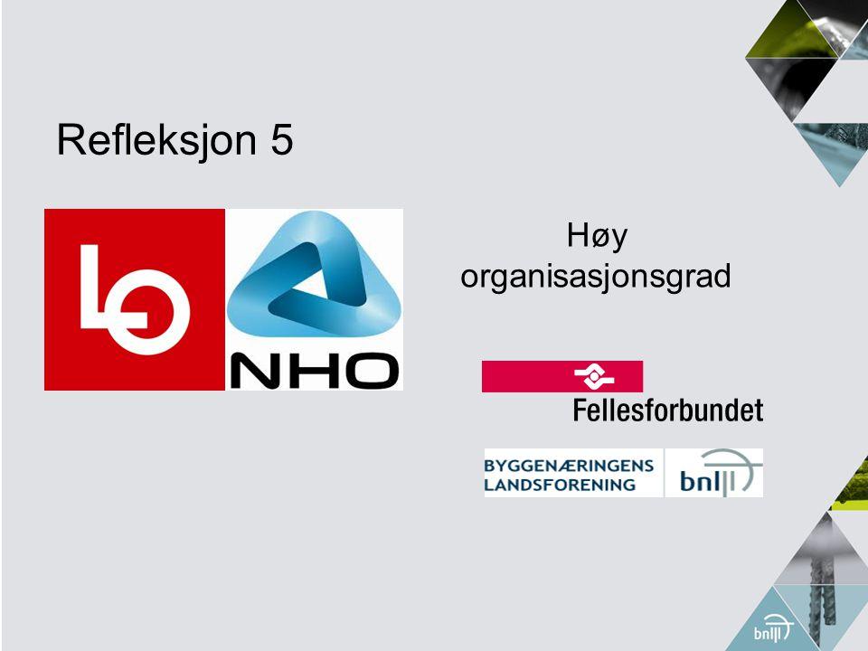 Refleksjon 5 Høy organisasjonsgrad
