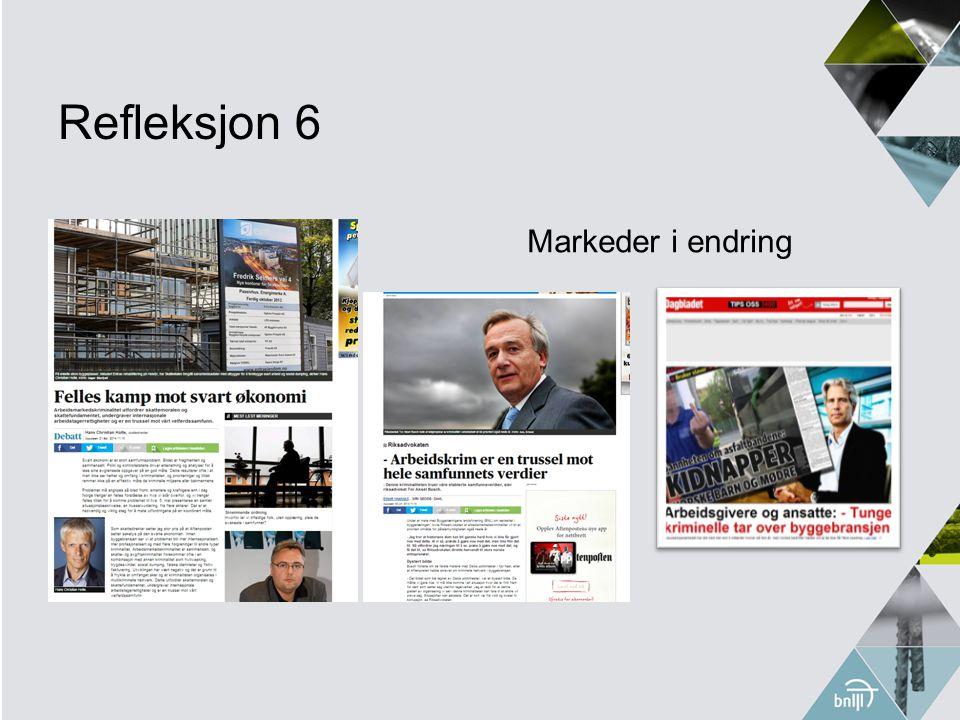 Refleksjon 6 Markeder i endring