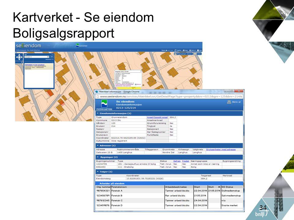 Kartverket - Se eiendom Boligsalgsrapport 34