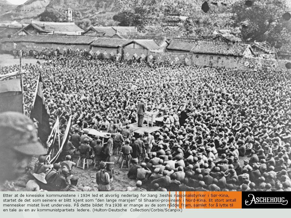 Etter at de kinesiske kommunistene i 1934 led et alvorlig nederlag for Jiang Jieshis nasjonalistyrker i Sør-Kina, startet de det som seinere er blitt