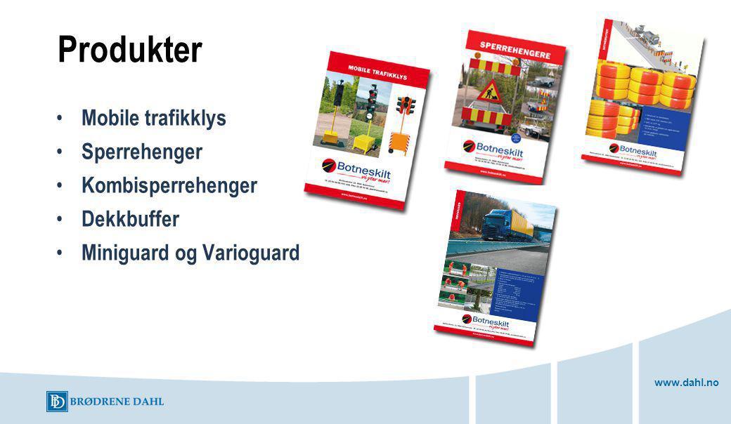 www.dahl.no Produkter Mobile trafikklys Sperrehenger Kombisperrehenger Dekkbuffer Miniguard og Varioguard
