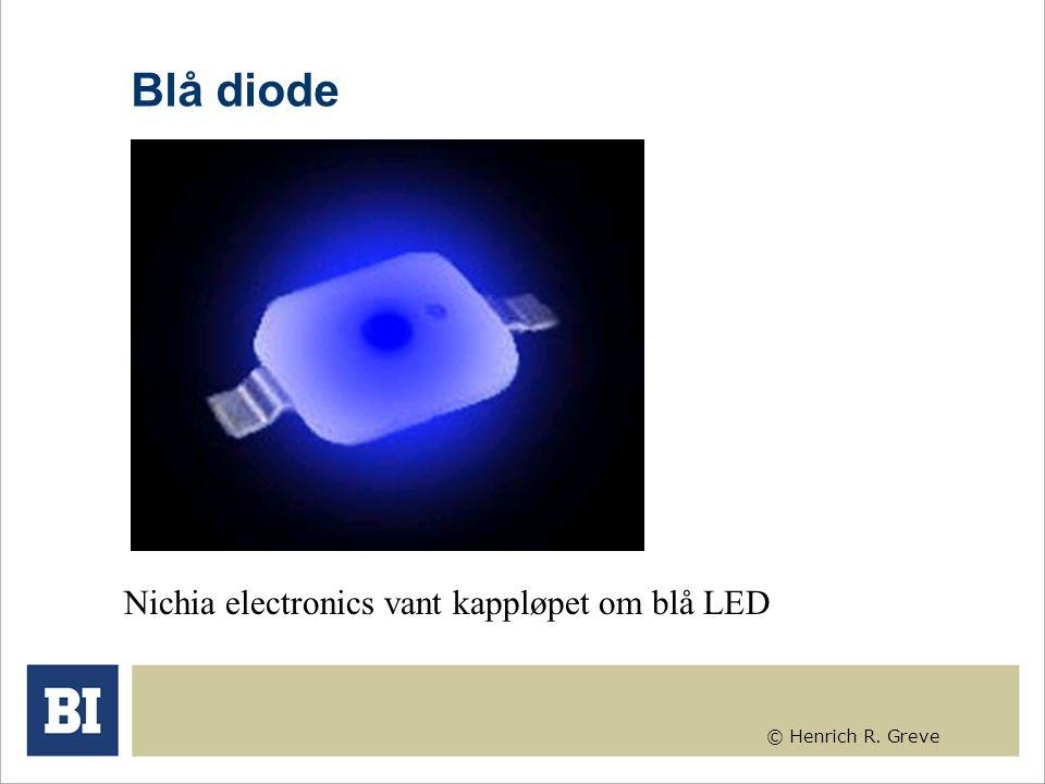 © Henrich R. Greve Blå diode Nichia electronics vant kappløpet om blå LED