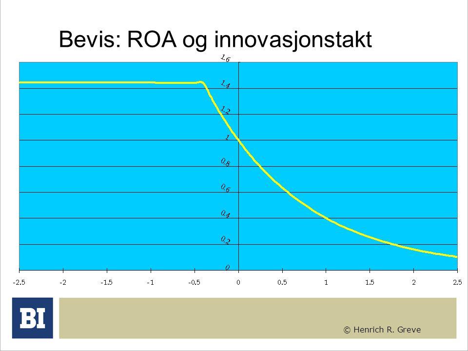 © Henrich R. Greve Bevis: ROA og innovasjonstakt