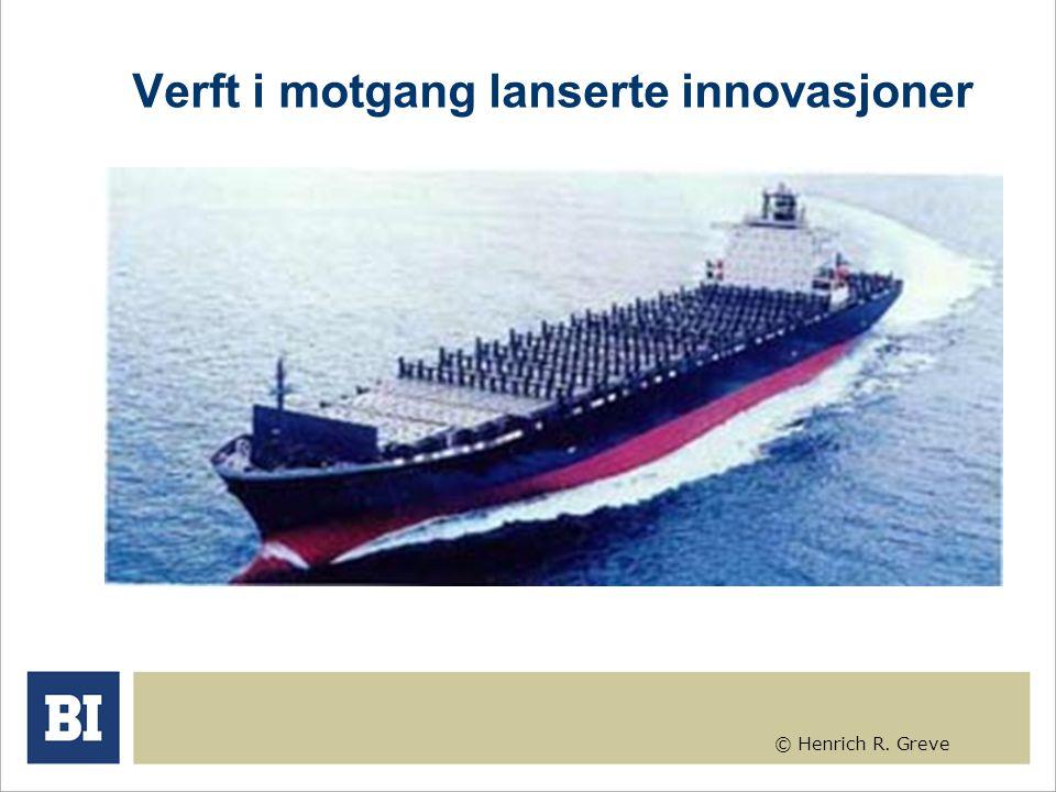 © Henrich R. Greve Verft i motgang lanserte innovasjoner