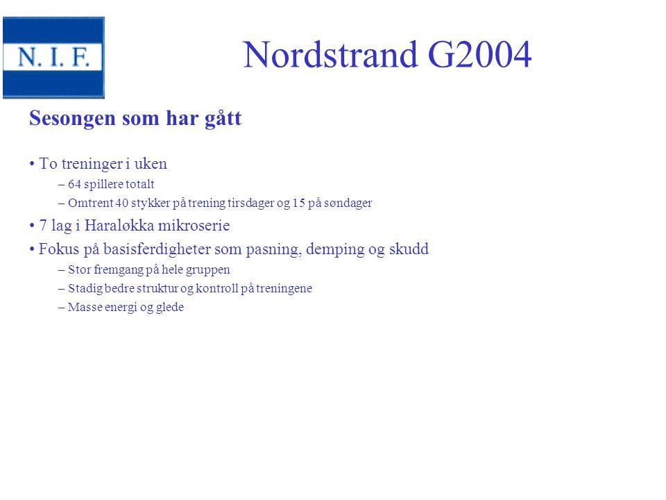 Nordstrand G2001 -2012 sesongen