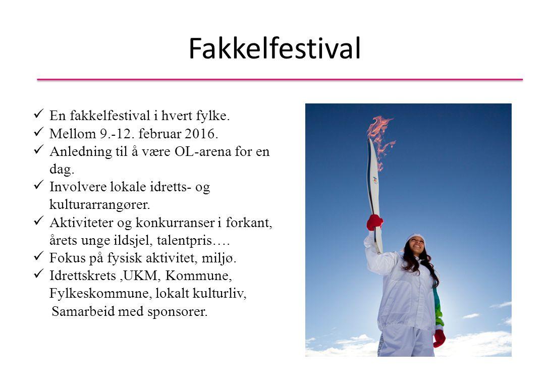 Fakkelfestival En fakkelfestival i hvert fylke.Mellom 9.-12.